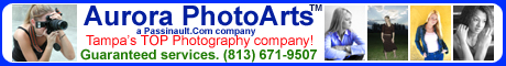 Aurora PhotoArts photography and design, located in Tampa  Bay, Florida.
